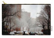 Snowy Street Scene Carry-all Pouch by Alison Frank