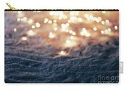 Snowy Winter Background With Fairy Lights. Carry-all Pouch