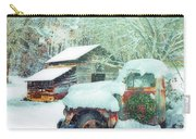 Softly Snowing On The Country Farm Carry-all Pouch