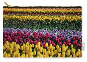 Spectacular Rows Of Colorful Tulips Carry-all Pouch