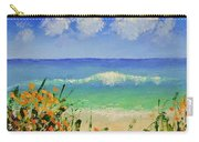 Spring Flowers And Sea And Clouds Carry-all Pouch