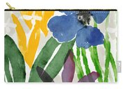 Spring Garden Blue- Floral Art By Linda Woods Carry-all Pouch