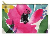 Spring Garden Pink- Floral Art By Linda Woods Carry-all Pouch
