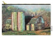 Spring On The Farm - Old Barn With Two Silos Carry-all Pouch