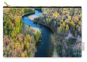 Springtime On The Manistee River Aerial Carry-all Pouch