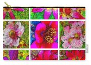 Stained Glass Pink Flower Collage  Carry-all Pouch