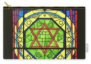 Star Of David Stained Glass Carry-all Pouch