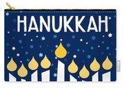 Starry Night Hanukkah Menorah- Art By Linda Woods Carry-all Pouch