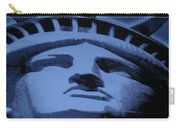Statue Of Liberty In Cyan Carry-all Pouch