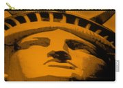 Statue Of Liberty In Orange Carry-all Pouch