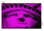 Statue Of Liberty In Purple Carry-all Pouch