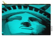 Statue Of Liberty In Turquois Carry-all Pouch