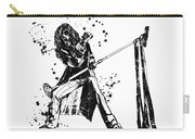 Steven Tyler Microphone Aerosmith Black And White Watercolor 01 Carry-all Pouch