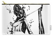 Steven Tyler Microphone Aerosmith Black And White Watercolor 02 Carry-all Pouch
