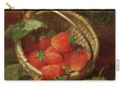 Still Life Of Strawberries With A Cabbage White Butterfly Carry-all Pouch