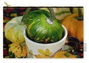 Still Live With Autumn Coffee Cup And Gourds Carry-all Pouch