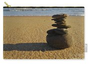 Stone Balance On The Beach Carry-all Pouch