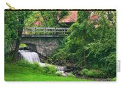 Stone Bridge And Waterfall Landscape Carry-all Pouch