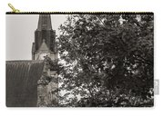 Stone Chapel - Black And White Carry-all Pouch by Allin Sorenson