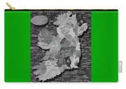 Stone Map Of Ireland Bw Carry-all Pouch