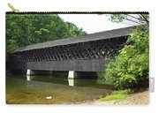Stone Mountain Covered Bridge Panorama View Carry-all Pouch