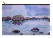 Stormy Shore On Nisyros Greece Carry-all Pouch