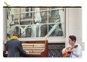 Street Musicians - Paris Carry-all Pouch by Brian Jannsen