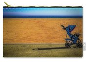 Stroller At The Beach Carry-all Pouch by Paul Wear