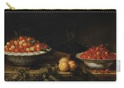 Studio Of Francois Garnier Paris 1600 - 1672 Still Life With A Bowl Of Cherries Carry-all Pouch