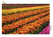 Stunning Rows Of Colorful Tulips Carry-all Pouch