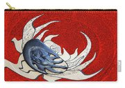 Sun And Moon On Red Carry-all Pouch