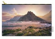 Sun Rising Behind Roque De Los Hermanos Carry-all Pouch by Dmytro Korol