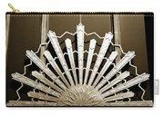 Sunburst Art Deco Sepia Carry-all Pouch