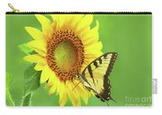Sunflower And Swallowtail Carry-all Pouch