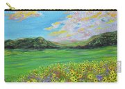 sunflower valley- Sunflower Art-Impressionism painting Carry-all Pouch