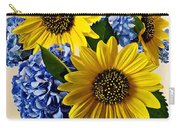 Sunflowers And Hydrangeas Carry-all Pouch