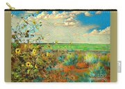 Sunflowers On The Edge Carry-all Pouch