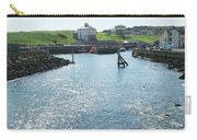 sunlight glistening on water at Eyemouth harbour Carry-all Pouch