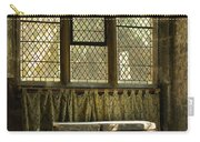 sunlight on linen fold altar in Trinity church York Carry-all Pouch