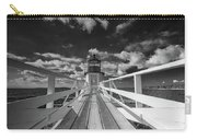 Sunny Skies At Marshall Point In Black And White Carry-all Pouch