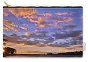 Sunrise Sky Jeremiah 29 11 Carry-all Pouch by Lisa Wooten