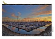 Sunset At Pier 32 Marina In National City, California Carry-all Pouch by Sam Antonio Photography