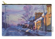Sunset In A Snowy Street Carry-all Pouch