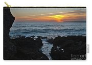 Sunset In Gale Beach. Coast Of Algarve Carry-all Pouch