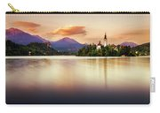 Sunset On Lake Bled Carry-all Pouch