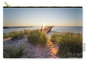 Sunset Over Dunes And Pier Carry-all Pouch