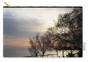 Sunset Scene Of Tree Branches And People Silhouettes Carry-all Pouch