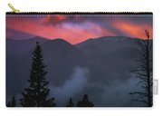 Sunset Storms Over The Rockies Carry-all Pouch by John De Bord