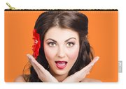 Surprised Vintage Woman Carry-all Pouch