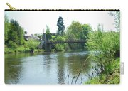suspension bridge on river Teviot near Heiton Carry-all Pouch